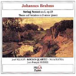 Brahms: String Sextet No 1 Op.18, Theme & Variations in D Minor for Piano (CD)