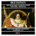 Beethoven: Piano Concerto No 5; Symphony No 4. (CD)
