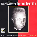 Hermann Abendroth, Volume 1 (CD)