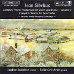 Sibelius: Complete Youth Production for Violin & Piano, Volume 2 (CD)