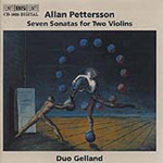 Pettersson: Chamber Music including 7 Sonatas for 2 Violins (CD)