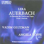 Produktbilde for Auerbach: (24) Preludes foer Violin and Piano (CD)