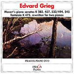 Mozart/Grieg: Piano Sonatas rewritten for Two Pianos (CD)