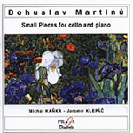 Martin, B: Short Pieces for Cello and Piano (CD)