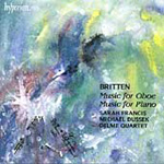 Britten: Music for Oboe and Piano (CD)