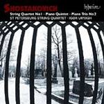 Shostakovich: String Quartet No 1; Piano Trio No 2; Piano Quintet (CD)