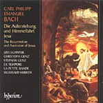 Bach, CPE: The Resurrection and Ascension of Jesus (CD)