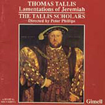 Tallis: Lamentations of Jeremiah (CD)