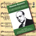 Simon Barere at Carnegie Hall (CD)
