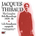 Jacques Thibaud: Complete Solo Recordings 1929-36 (CD)