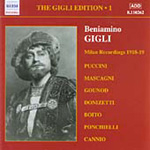 Great Singers - Beniamino Gigli Vol. 1: Milan Recordings 1918-1919 (CD)
