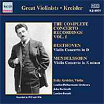 Beethoven/Mendelssohn: Concertos for Violin and Orchestra (CD)