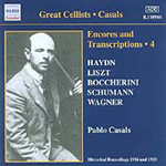 Casals - Encores and Transcriptions, Vol 4 (CD)
