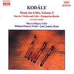 Kodály: Cello Works, Volume 2 (CD)