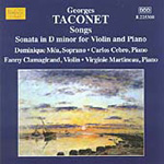 Taconet: Songs; Violin Sonata (CD)