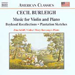 Burleigh: Works for Violin and Piano (CD)