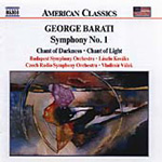Barati: Symphony No 1; Chant of Light; Chant of Darkness (CD)