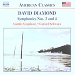 Diamond: Symphonies Nos 2 & 4 (CD)