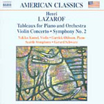 Lazarov: Tableux for Piano And Orchestra; Violin Concerto, Symphony No 2 (CD)