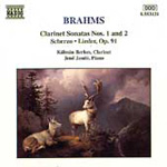 Brahms: Clarinet Sonatas etc (CD)