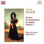 Soler: Harpsichord Works, Vol. 3 (CD)