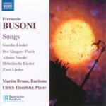 Busoni: Songs (CD)