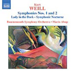 Weill: Symphonies Nos 1 and 2; Suite - Lady in the Dark (CD)