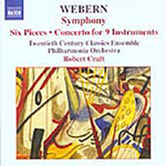 Webern: Symphony; Concerto for 9 Instruments (CD)