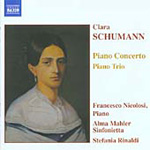 Schumann, C: Piano Concerto in A minor, Op 7; Piano Trio in G minor, Op 17 (CD)