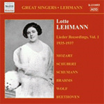 Lotte Lehmann - Lieder Recordings (1935-1937), Vol 1 (CD)