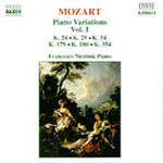 Mozart: Piano Variations, Vol. 1 (CD)
