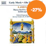Produktbilde for Lassus: Two Masses for Five Voices; Infelix ego (CD)