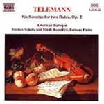 Telemann: Sonatas for Two Flutes, Op 2 (CD)