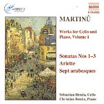 Martinu: Works for Cello & Piano, Volume 1 (CD)