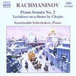 Rachmaninov: Piano Sonata No 2; Variations on a Theme by Chopin (CD)