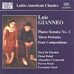 Gianneo: Piano Sonata No 1; Three Preludes; Four Compositions (CD)