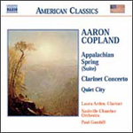Copland: Appalachian Spring; Clarinet Concerto; Quiet City (CD)