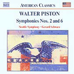Piston: Symphonies Nos 2 and 6 (CD)