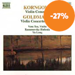 Produktbilde for Korngold/Goldmark: Violin Concertos (CD)