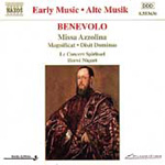 Benevolo: Missa Azzolina; Vocal Works (CD)