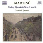 Martinu: String Quartets Nos 3 and 6 (CD)
