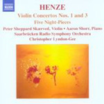 Henze: Violin Concertos Nos 1 and 3 (CD)