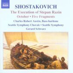Shostakovich: The Execution of Stepan Razin; October; 5 Fragments (CD)