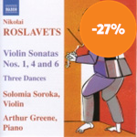 Produktbilde for Roslavets: Violin Sonatas Nos 1, 4 & 6 (CD)