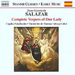 Salazar: Complete Vespers for Our Lady (CD)