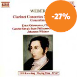 Produktbilde for Weber: Works for Clarinet and Orchestra (CD)