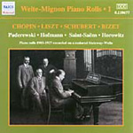 The Welte-Mignon Reproducing Piano Rolls Vol 1 (CD)