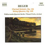 Reger: Clarinet Quintet & String Quartet (CD)