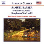 Barber: Symphonies 1 & 2 etc (CD)