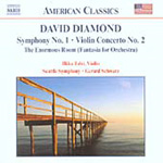 Diamond: Symphony No 1; Violin Concerto (CD)